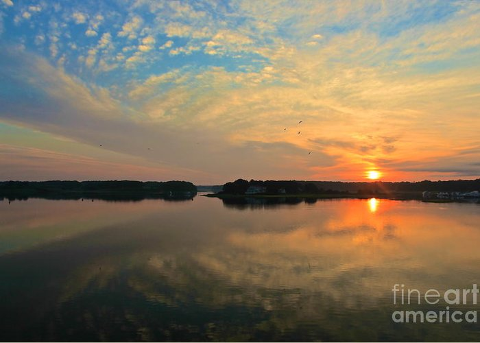 Sunrise Greeting Card featuring the photograph Summer Sunrise by Amazing Jules