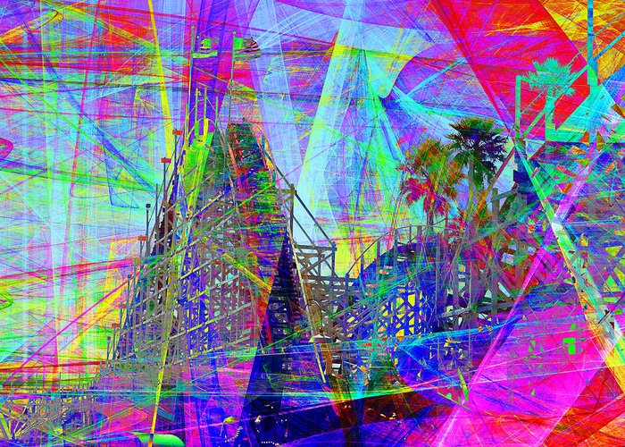 California Greeting Card featuring the photograph Summertime At Santa Cruz Beach Boardwalk 5d23930 Square by Wingsdomain Art and Photography