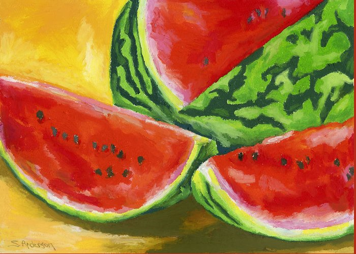 Summer Greeting Card featuring the painting Summertime Delight by Stephen Anderson