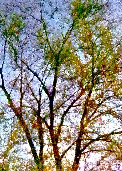 Trees Greeting Card featuring the digital art Sun Dappled by Dale  Ford