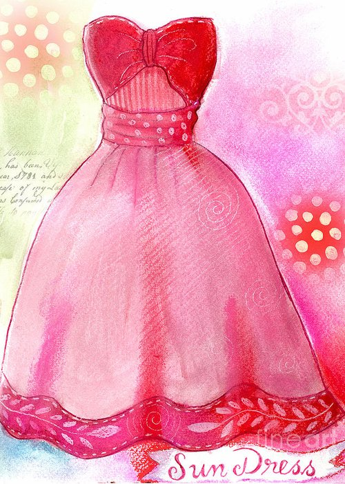 Dress Greeting Card featuring the mixed media Sun Dress by Elaine Jackson