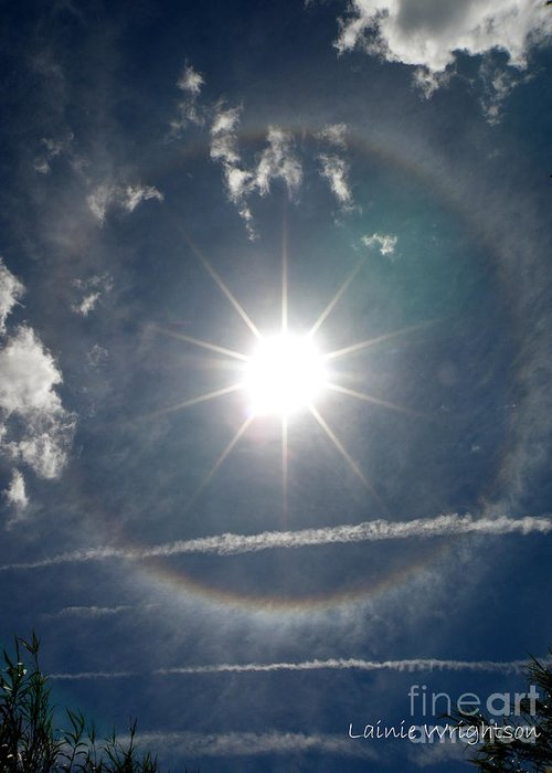 Sun Greeting Card featuring the photograph Sun Halo by Lainie Wrightson