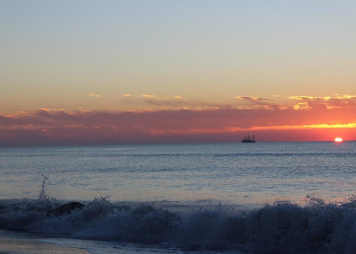 Just Another Wonderful Sunrise In Paradise!!! Greeting Card featuring the photograph Sun N Waves At Dawn by Mike Jarrett
