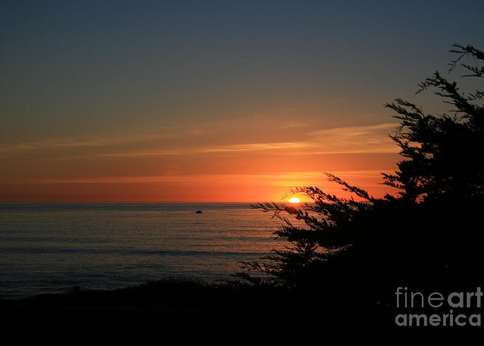 Cambria Greeting Card featuring the photograph Sun Setting In Cambria Calm Pacific by Ian Donley