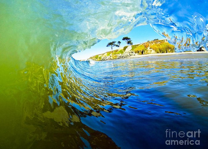 Wave Greeting Card featuring the photograph Sun Shade by Paul Topp