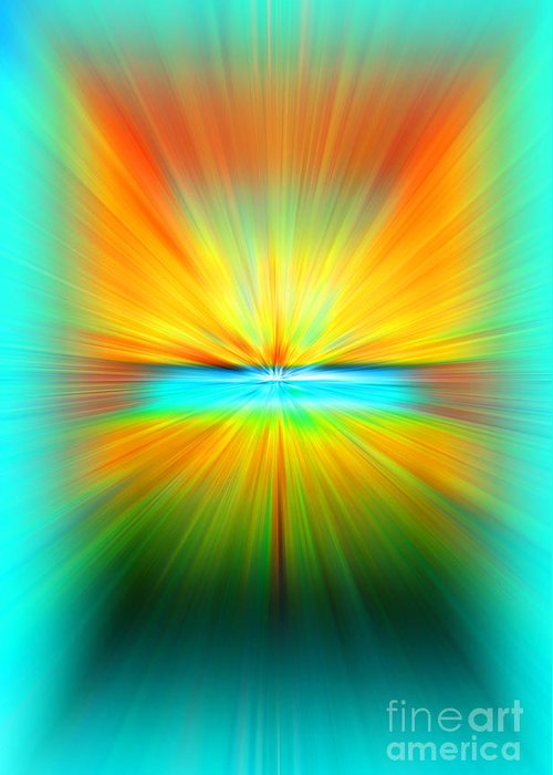 Abstract Greeting Card featuring the photograph Sunburst by Clare VanderVeen