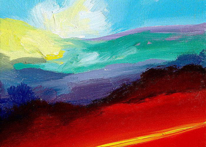 Painting Greeting Card featuring the painting Sundance by Neil McBride