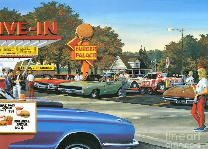 Burger Joint Greeting Cards