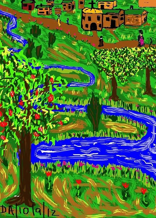 Landscape Greeting Card featuring the digital art Sunday by Don Ackley