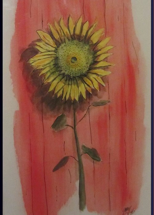 Greeting Card featuring the painting Sunflower by Gary Kirkpatrick