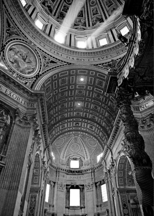 Saint Greeting Card featuring the photograph Sunlight In St. Peter's by Susan Schmitz