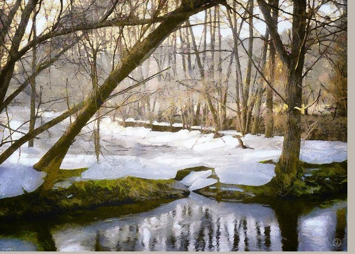 Nature Greeting Card featuring the digital art Sunny But So Cold by Gun Legler
