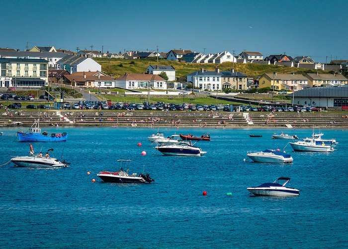 Ireland Greeting Card featuring the photograph Sunny Summer Day On Kilkee Bay by James Truett