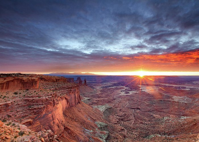 Tranquility Greeting Card featuring the photograph Sunrise At Canyonlands by Hansrico Photography