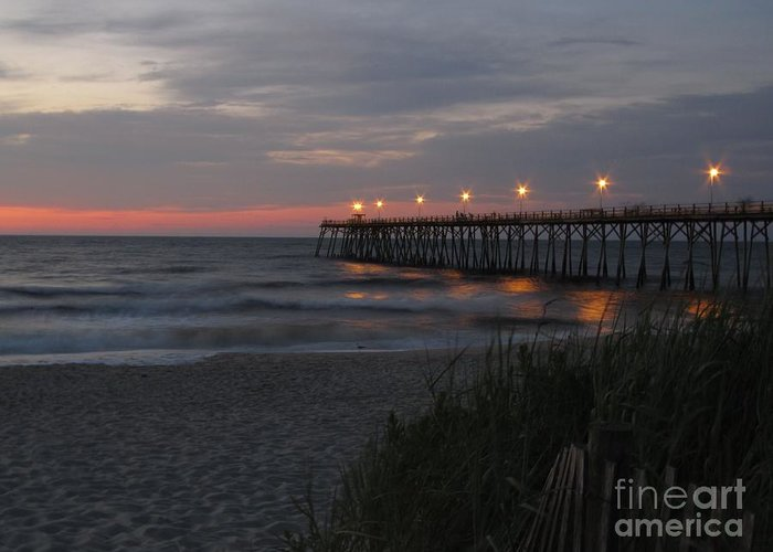 Kure Greeting Card featuring the photograph Sunrise At Kure Pier by Jaclyn Hughes Fine Art