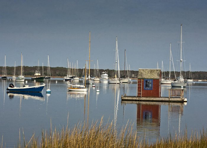 Boat Greeting Card featuring the photograph Sunrise At Red Brook Harbor 2 by Dennis Coates