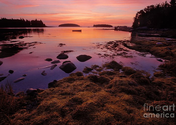 Maine Greeting Card featuring the photograph Sunrise At Tenants Harbor by Jim Block