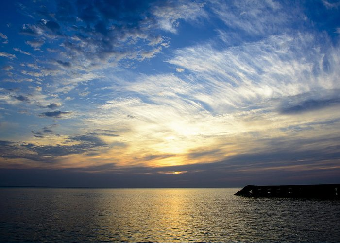 Sunrise Greeting Card featuring the photograph Sunrise Lake Michigan September 7th 2013 005 by Michael Bennett