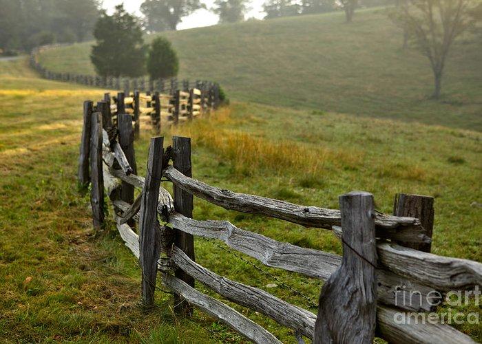 Blue Ridge Parkway Greeting Card featuring the photograph Sunrise Meadow - Blue Ridge Parkway I by Dan Carmichael
