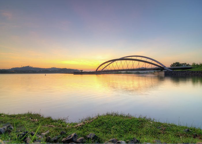 Tranquility Greeting Card featuring the photograph Sunrise by Mohamad Zaidi Photography