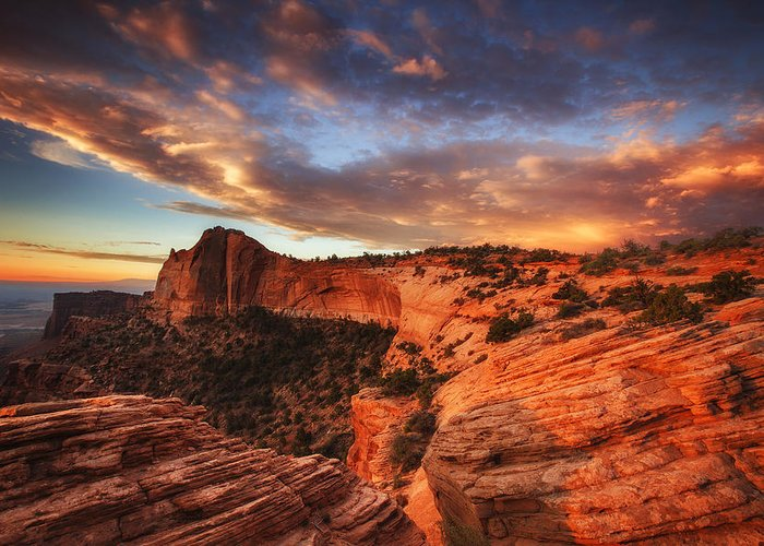 Sunrise Greeting Card featuring the photograph Sunrise Over Canyonlands by Darren White