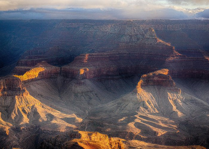 Grand Canyon Greeting Card featuring the photograph Sunrise Over The Canyon by Lisa Spencer