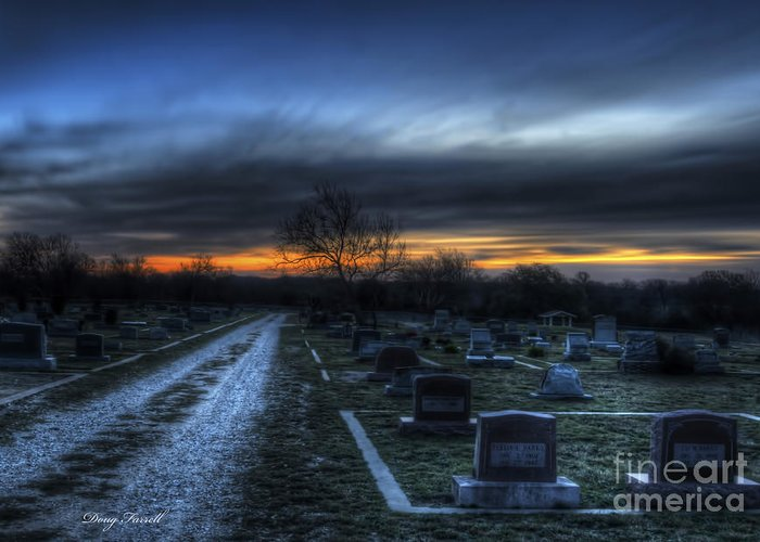 Landscape Greeting Card featuring the photograph Sunrise Over The Grave by Doug Farrell