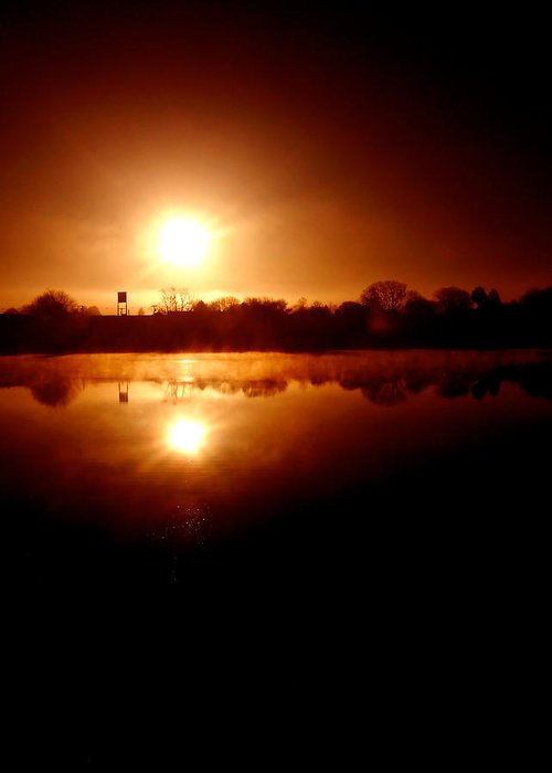 Lake Greeting Card featuring the photograph Sunrise Over The Lake by John Henkel