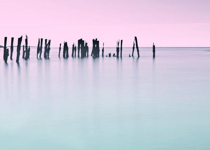 Ocean Greeting Card featuring the photograph Sunrise Popham Beach by Susan Garver