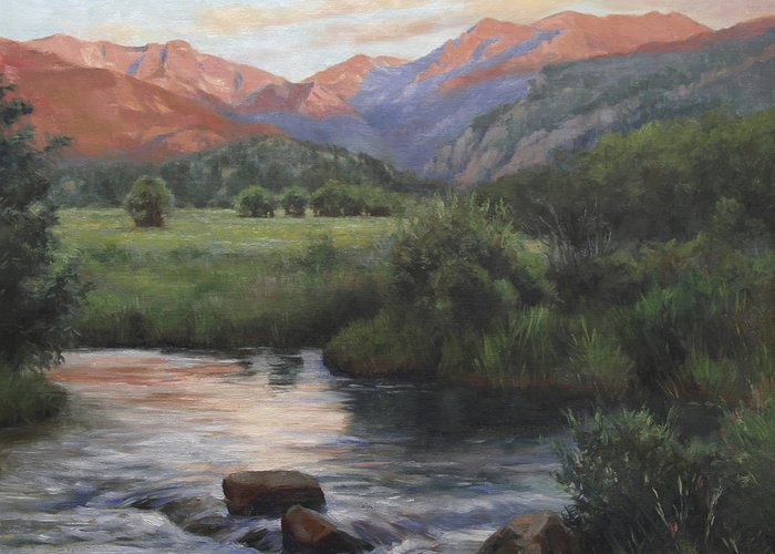 Mountain Stream Greeting Cards