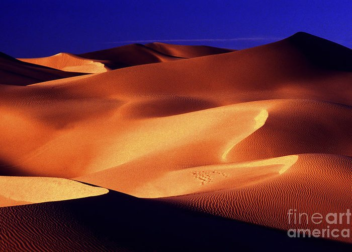 Sand Dunes Greeting Card featuring the photograph Sunrise Shadows by Paul W Faust - Impressions of Light