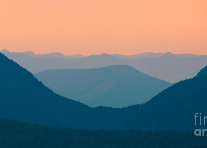 Sunrise Greeting Card featuring the photograph Sunrise Washington State by Henk Meijer Photography