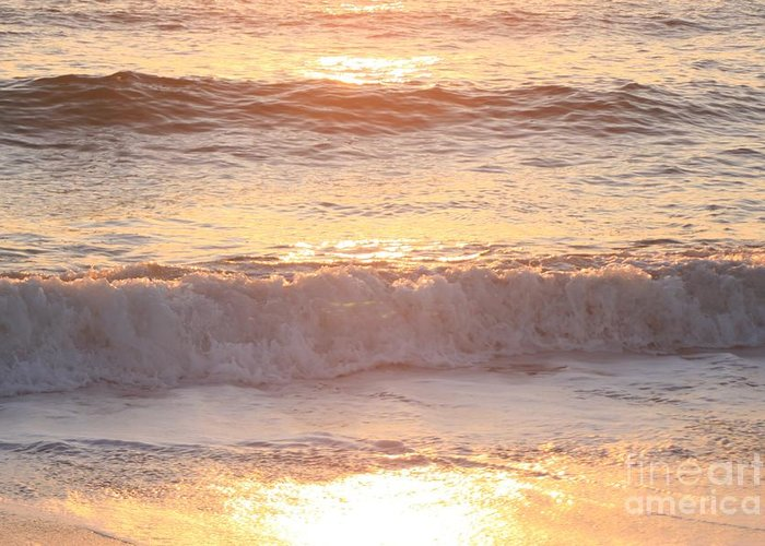 Waves Greeting Card featuring the photograph Sunrise Waves by Nadine Rippelmeyer