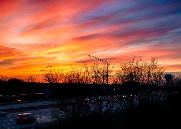 Sunset Greeting Card featuring the photograph Sunset 11-14-13 2 by Michael Bennett
