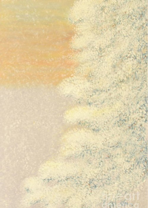 Snowstorm Greeting Card featuring the painting Sunset After The Storm by Cindy Lee Longhini