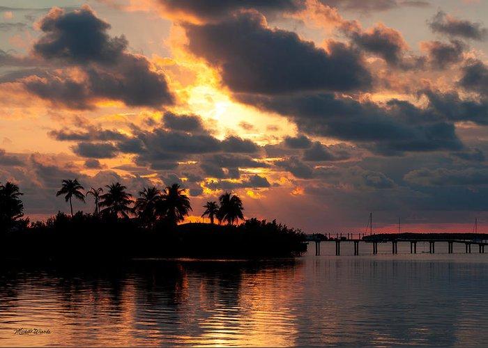 Sunset At Mitchells Keys Villas Greeting Card featuring the photograph Sunset At Mitchells Keys Villas by Michelle Wiarda