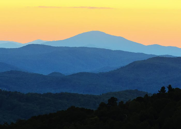 Sunset at yonah mountain greeting card for sale by steve samples blue mountains greeting card featuring the photograph sunset at yonah mountain by steve samples m4hsunfo