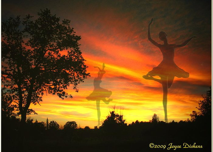 Ballerina Greeting Card featuring the photograph Sunset Ballerina by Joyce Dickens