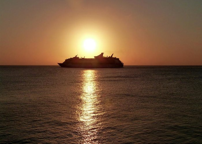 Color Greeting Card featuring the photograph Sunset Cruise by Amar Sheow
