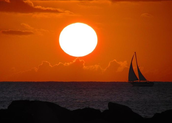 Sunset Greeting Card featuring the photograph Sunset Dreams by BLISS LIVING Photography CL Gifford