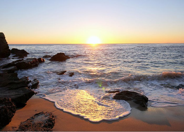 Sunset Greeting Card featuring the photograph Sunset Foam by Deon Mitton