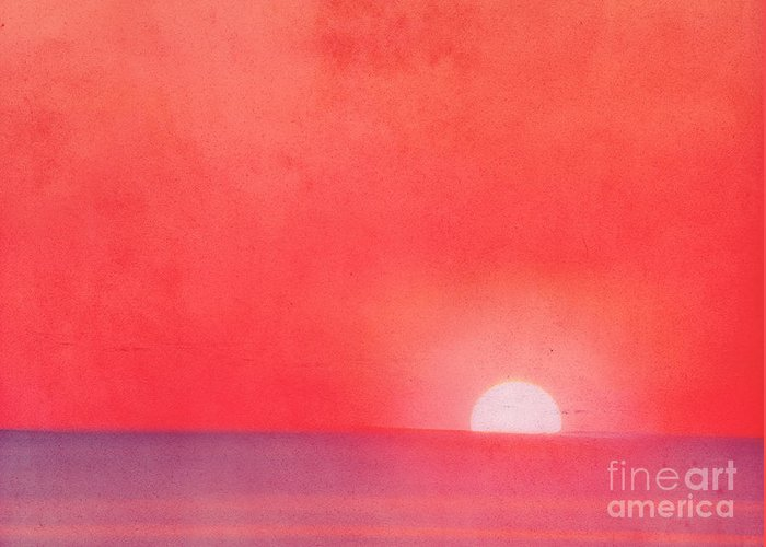 Sea Greeting Card featuring the photograph Sunset Impression by Angela Doelling AD DESIGN Photo and PhotoArt