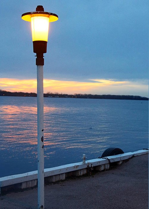 Centre Island Greeting Card featuring the photograph Sunset In December by Munir Alawi