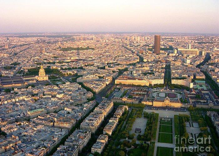Paris Greeting Card featuring the photograph Sunset In Paris by Deborah Smolinske
