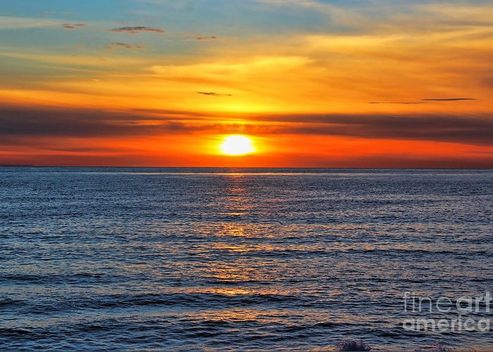 Sunset Greeting Card featuring the photograph Sunset In San Clemente by Mariola Bitner
