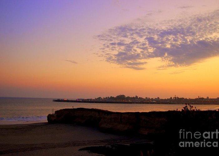 Santa Cruz Greeting Card featuring the photograph Sunset In Santa Cruz California by Garnett Jaeger