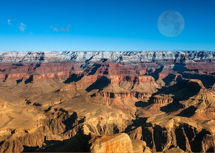 Grand Canyon Greeting Card featuring the photograph Sunset In The Grand Canyon by Joe Belanger
