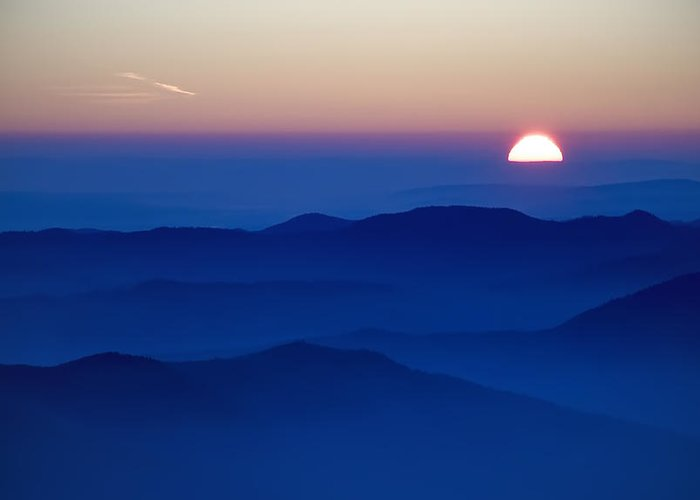 Alpine Greeting Card featuring the photograph Sunset by Ioan Panaite