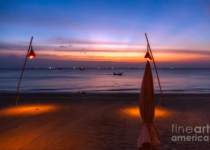 Hdr Greeting Card featuring the photograph Sunset Lanta Island by Adrian Evans