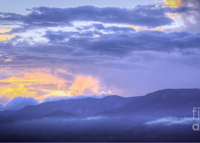 Sunset Greeting Card featuring the photograph Sunset Low Clouds by David Waldrop